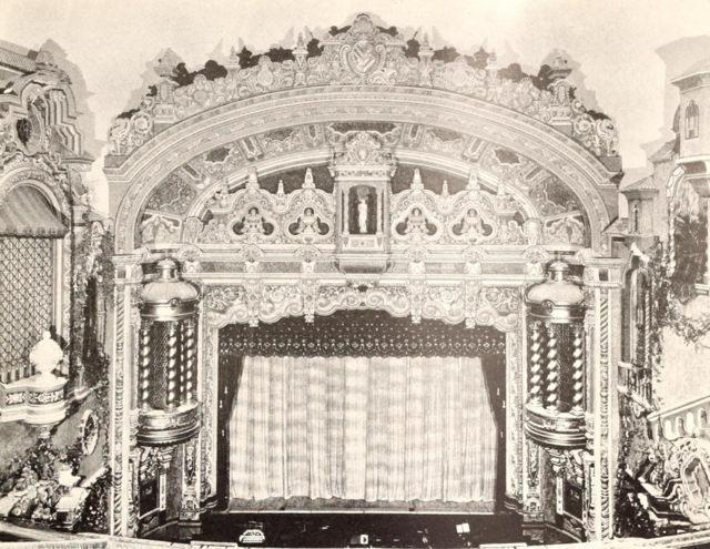 58th Street Theatre, New York, New York in 1929 - Stage and Proscenium