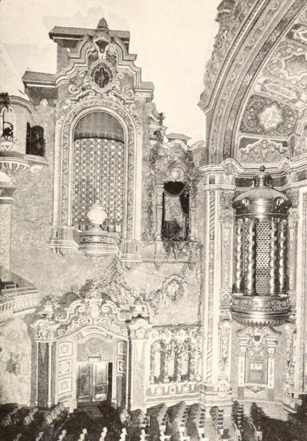 58th Street Theatre, New York, NY in 1929 - Left side Proscenium