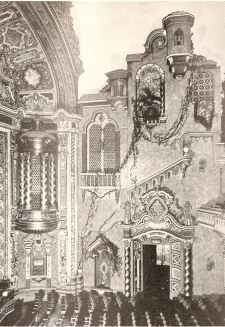 58th Street Theatre, New York, NY in 1929 - Right side Proscenium