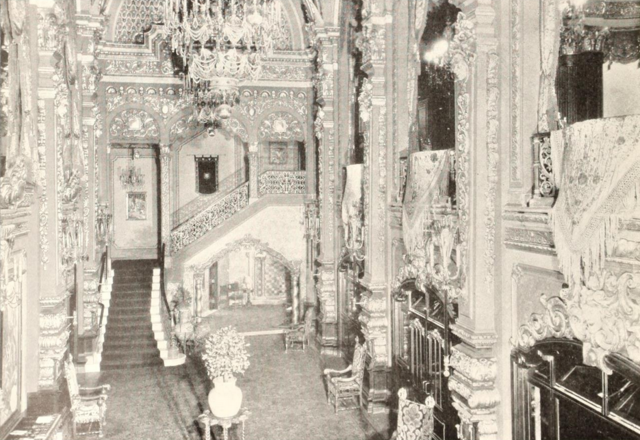 58th Street Theatre, New York, NY in 1929 - Grand Lobby from Mezzanine