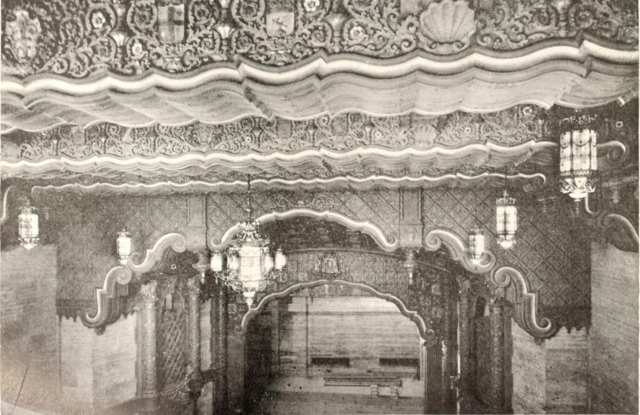 Fox Theatre, Seattle, WA in 1929 - Proscenium viewed from rear of Balcony