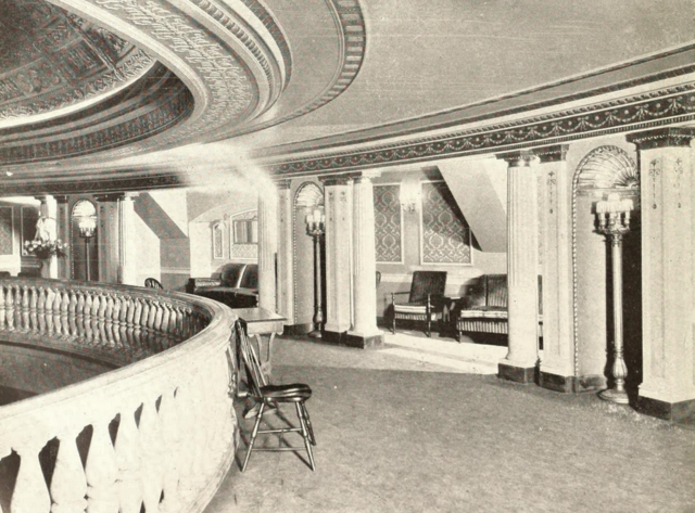Leroy Theatre, Pawtucket, RI in 1929 - Mezzanine Promenade