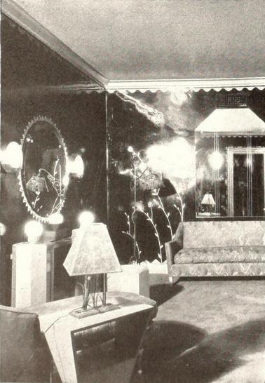 Uptown Theatre, Philadelphia, PA  in 1929 - Corner of Ladies Cosmetic Room