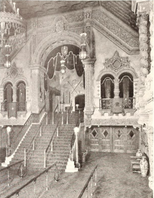 Loew's Akron Theatre, Akron, OH in 1929 - Stairway to Mezzanine