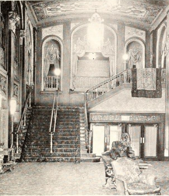 Loew's State Theatre, Providence, RI in 1929 - Staircase to Mezzanine