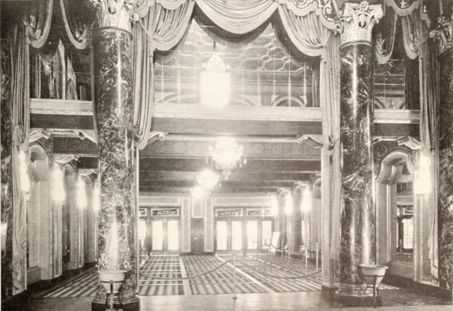 Loew's State Theatre, Providence, RI in 1929 - Main entrance viewed from Lobby