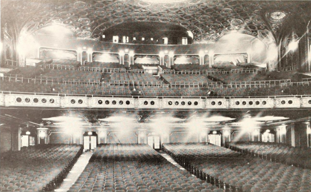 Loew's State Theatre, Providence, RI in 1929 - Auditorium from stage