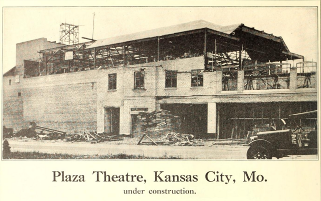 Plaza Theater, Kansas City, MO in 1928 under construction