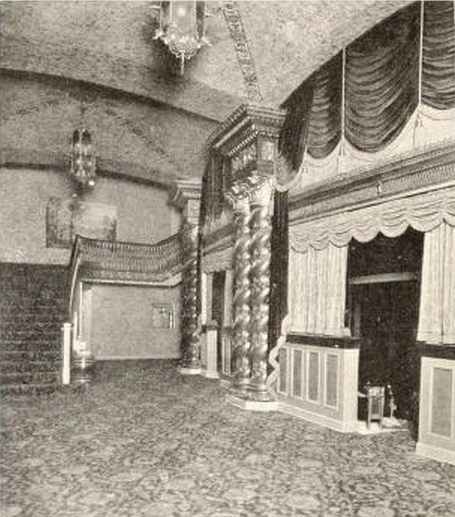 Majestic Theatre, East St. Louis, IL in 1929 - Foyer