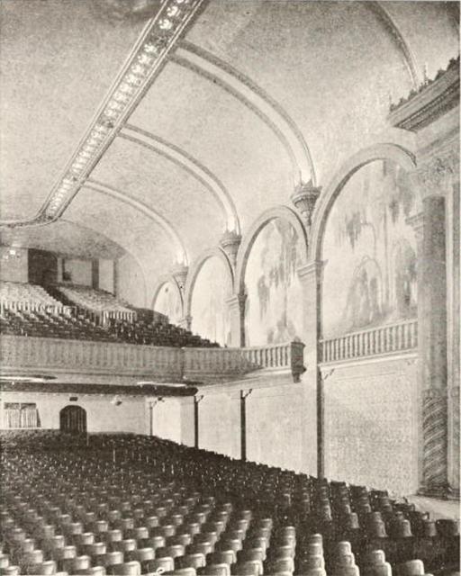 West Coast Theatre, Santa Ana, CA in 1929 - Auditorium and Organ Screen