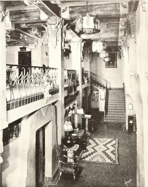 Kimo Theatre, Albuquerque, NM in 1929 - Entrance Foyer