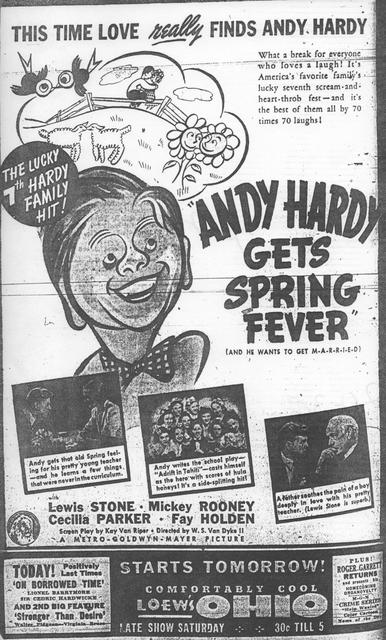 """""""Andy Hardy Gets Spring Fever"""""""