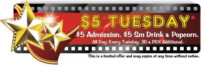 $5 Tuesdays!