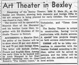 &quot;The Bexley Art Theater&quot;