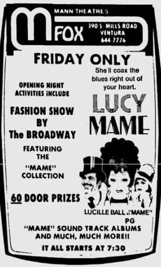 Fox Theater ad 6-26-1974