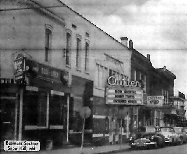 OUTTEN Theatre (OPERA HOUSE, GEM); Snow Hill, Maryland.