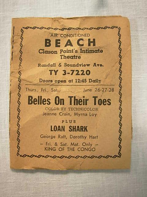Beach Theater Handbill part 1