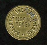 ORIENTAL Theatre token; Milwaukee, Wisconsin.