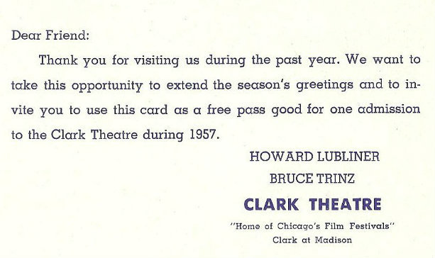 CLARK Theatre; Chicago, Illinois.