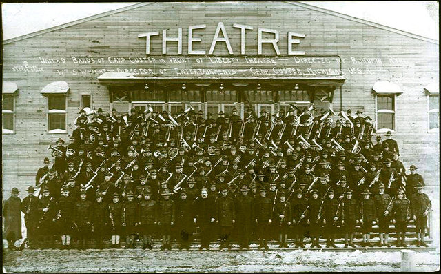 LIBERTY Theatre; Camp Custer; Battle Creek, Michigan, 1918.