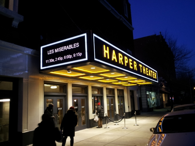Harper Theater marquee