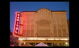 2011 - Capitol Theater lit at night for yearly October Latin Jazz Festival
