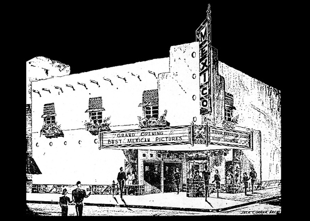 April 24, 1945 Brownsville Herald illustration of Mexico theatre