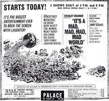 "Opening Day Ad for ""It's A Mad Mad Mad Mad World"""