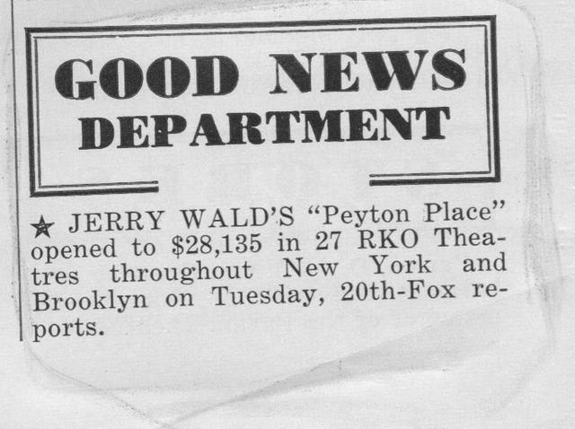 """""""Peyton Place"""""""