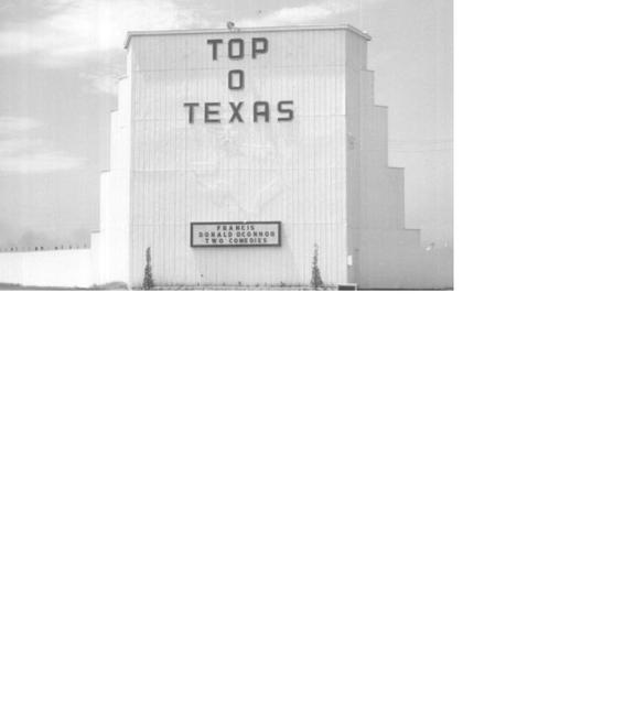 Screen tower Top o Texas Drive In
