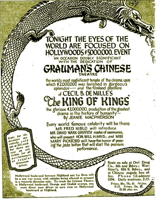 May 18th 1928 opening ad