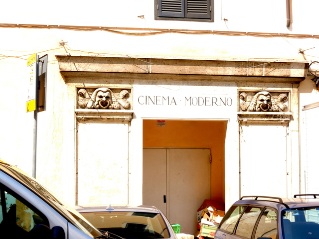Rear entrace of the Cinema Moderno