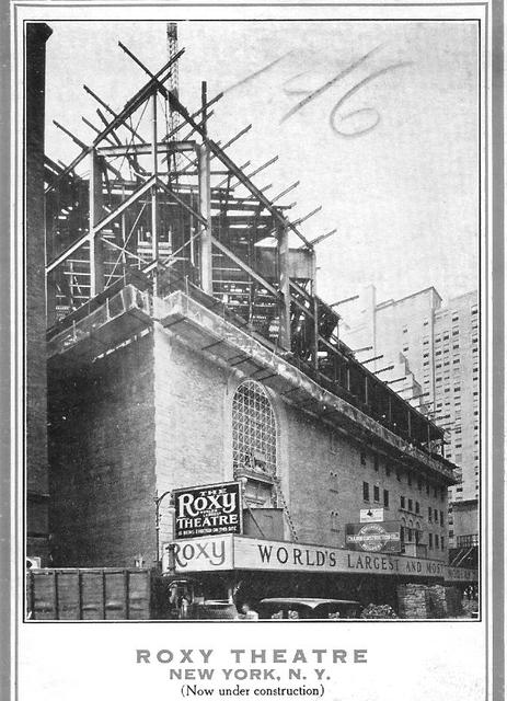 NYC ROXY Theatre 1926