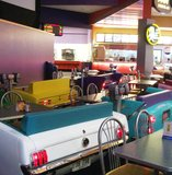 Drive-in dining in the lobby