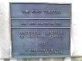 Ohio Theatre Plaque