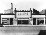 Archer Theatre's front facade from the 1920's