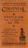 1934 Colonial Program (cover)