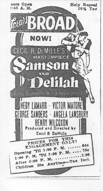 """Samson and Deliah"