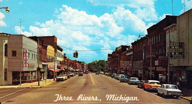 RIVIERA Theatre; Three Rivers, Michigan.