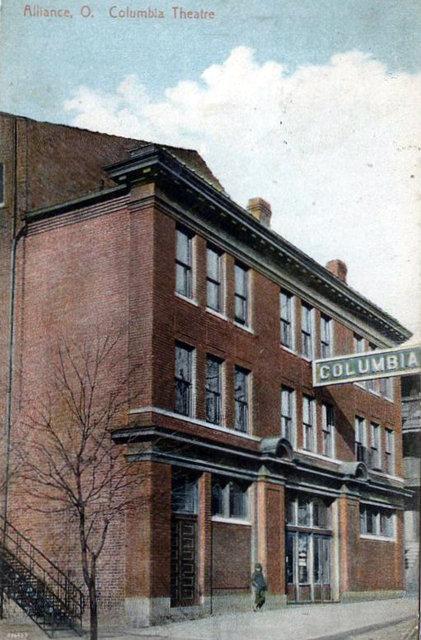COLUMBIA Theatre; Alliance, Ohio.