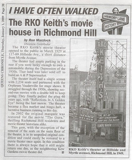 Article from Queens Tribune.