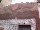 <p>You can see the old painted ad for the William Goldman's Midtown Theatre on the exterior wall</p>
