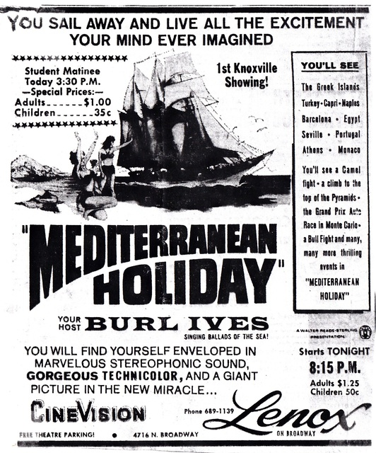 """Mediterranean Holiday"" in CineVision"