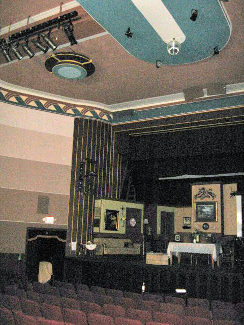 House left of Ruffin Theater showing ceiling.