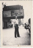 Josaphat Hardy, circa 1938, in front of the Majestic