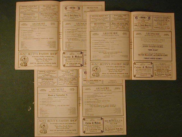 1920s  ardmore programs