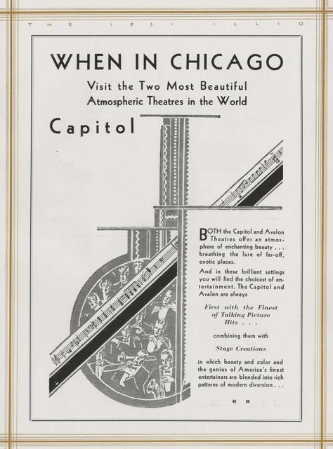 CAPITOL Theatre; Chicago, Illinois.
