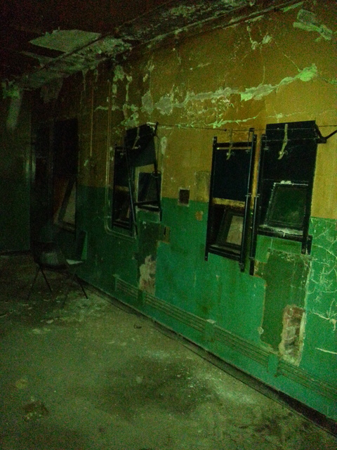 Inside the former projection room