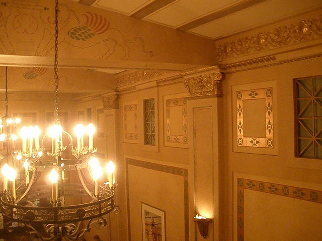 Lobby ceiling from the mezzanine
