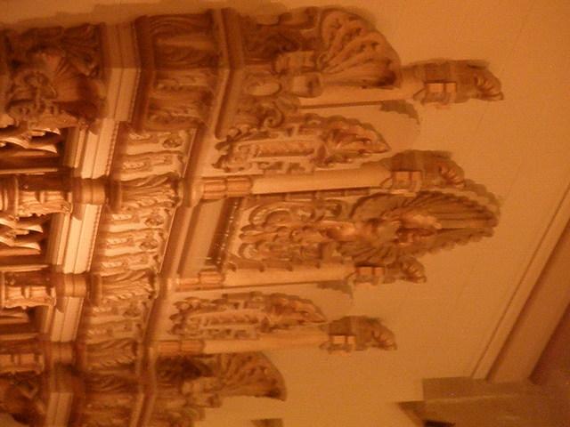 Facade hiding the organ pipes.